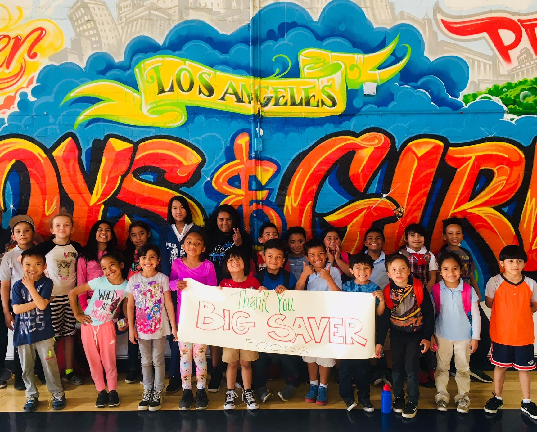 The Los Angeles Boys & Girls Club kids send a Big thank you to Big Saver Foods for being a part of the generous support within our community!